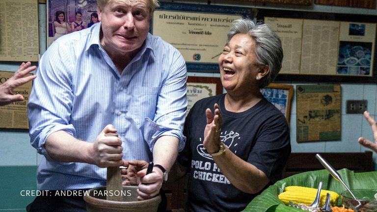 Boris Johnson joking around for the camera. Pic: Andrew Parsons