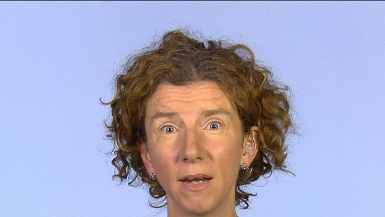 Anneliese Dodds reacts to the Liberal Democrat win in Wales