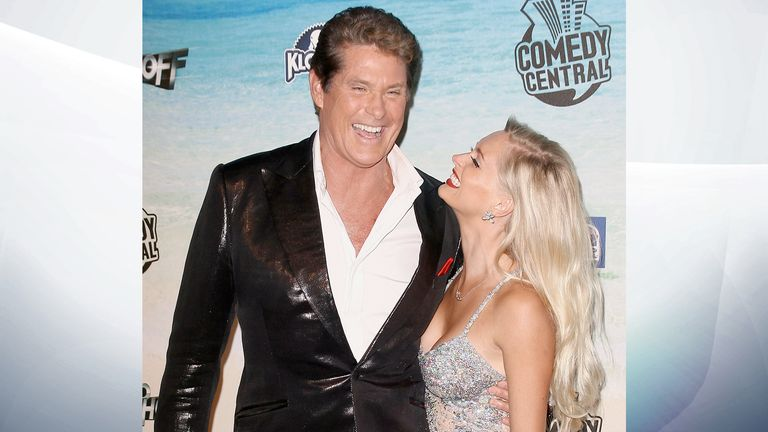 David Hasselhoff and Anouska De Georgiou in 2010. Pic:  Unimedia/Shutterstock
