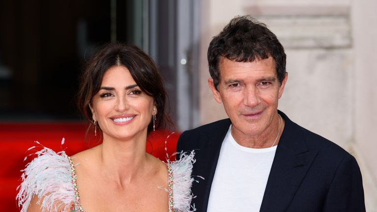 "Penelope Cruz and Antonio Banderas attend the ""Pain And Glory"" UK Premiere and opening gala of Film4 Summer Screen at Somerset House on August 08, 2019 in London, England"