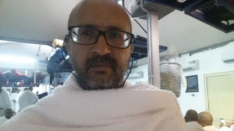 Anwar Tambe is at the Hajj in Saudi Arabia