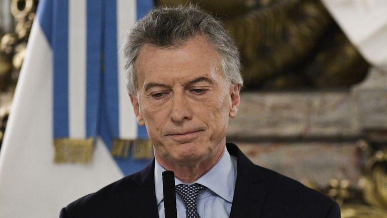 Argentina's President Mauricio Macri