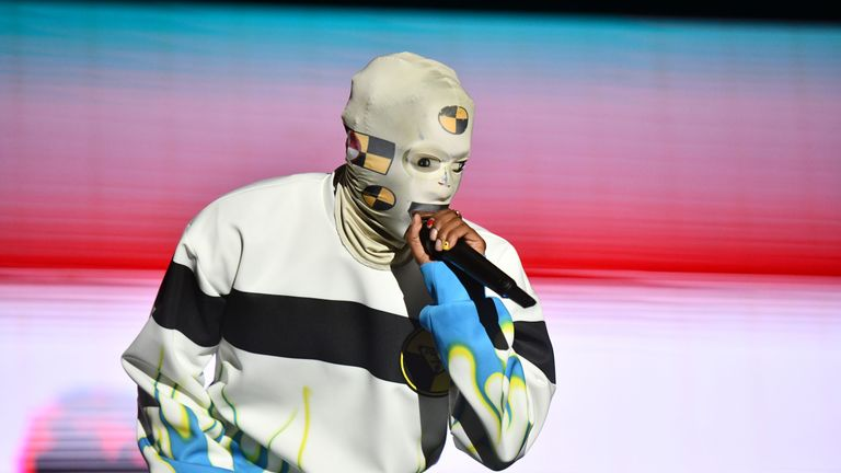 Rapper ASAP Rocky performs onstage during the 92.3 Real Street Festival at Honda Center on August 11, 2019 in Anaheim, California