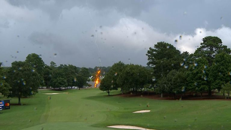 Several people have been struck by lightning at a golf event in Atlanta