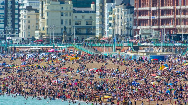 Brighton beach is likely to be busy during the hot Bank Holiday weekend
