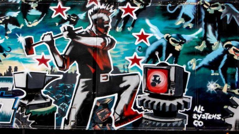 Banksy truck. Pic: Bonham