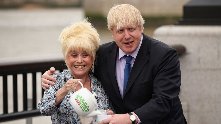 Dame Barbara with Boris Johnson in 2013, a year before she was diagnosed with Alzheimer's