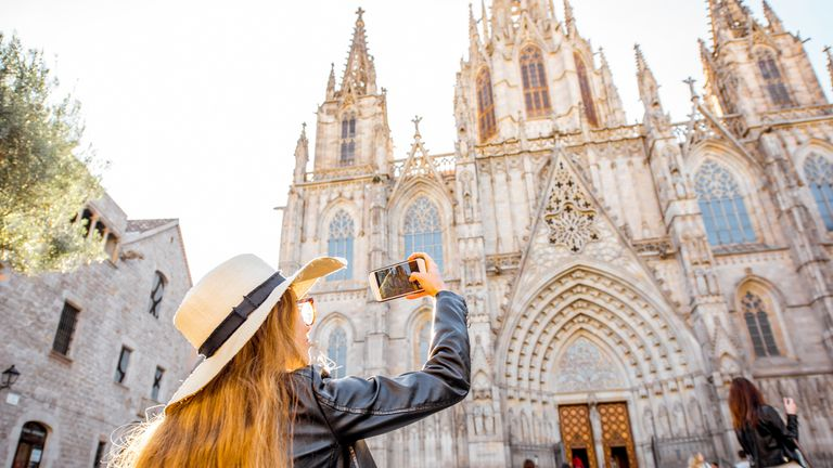 Barcelona is visited by millions of tourists each year