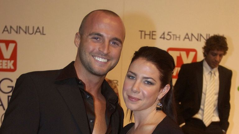 Ben Unwin with his former co-star on the soap Kate Ritchie
