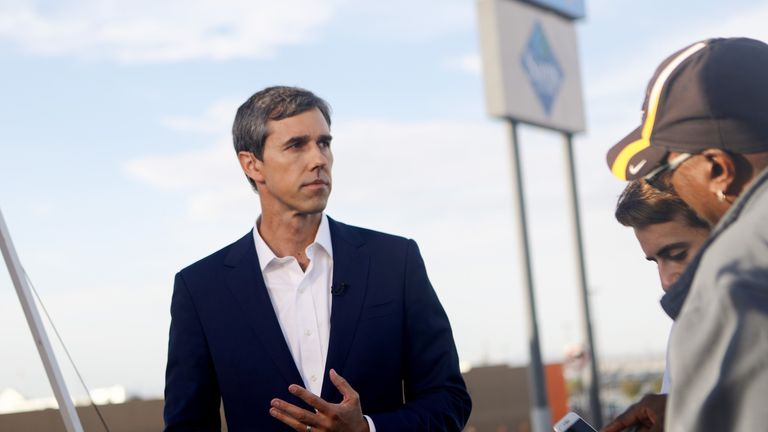 Beto O'Rourke has said Donald Trump is an 'open and avowed' racist