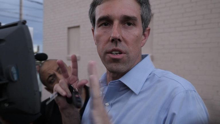 Former Texas congressman Beto O'Rourke says President Trump's language against minorities promotes racial division and violence.
