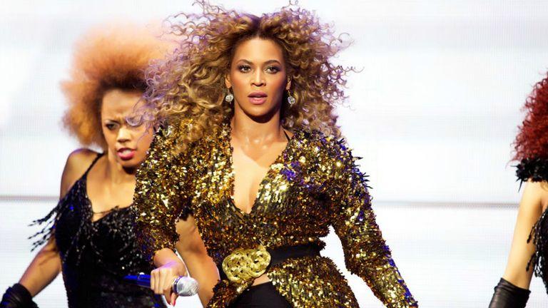 Beyonce at Glastonbury, 2014. Pic: Denis O'Regan