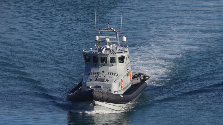 Border Force dealt with the rest of the migrants after they were brought to shore. File pic