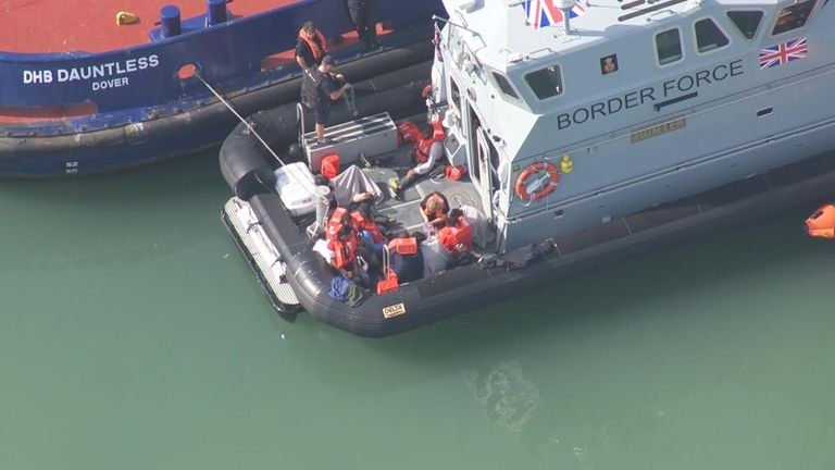 Sky News captured images of the incident at Dover