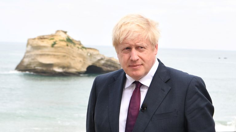 Boris Johnson still Biarritz G7