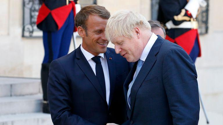Boris Johnson and Emmanuel Macron will meet again at the summit in France