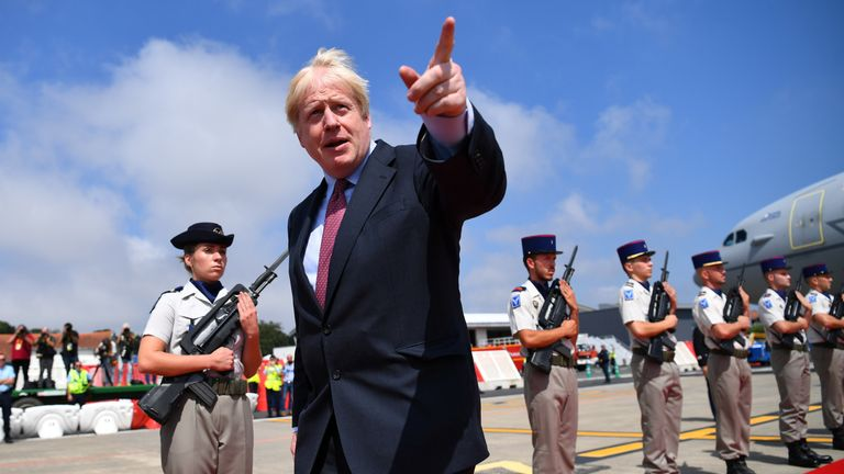 Boris Johnson in Biarritz