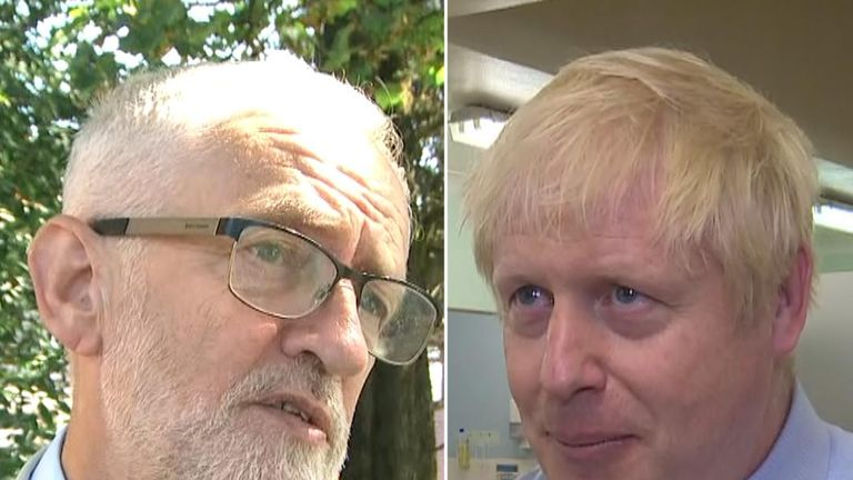 The prime minister and the leader of the opposition express different views on migrants in the Channel