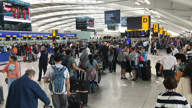 Some BA flights from Heathrow, Gatwick and London City have been cancelled due to an IT glitch