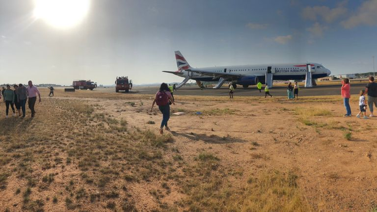 The BA flight left Heathrow for Valencia