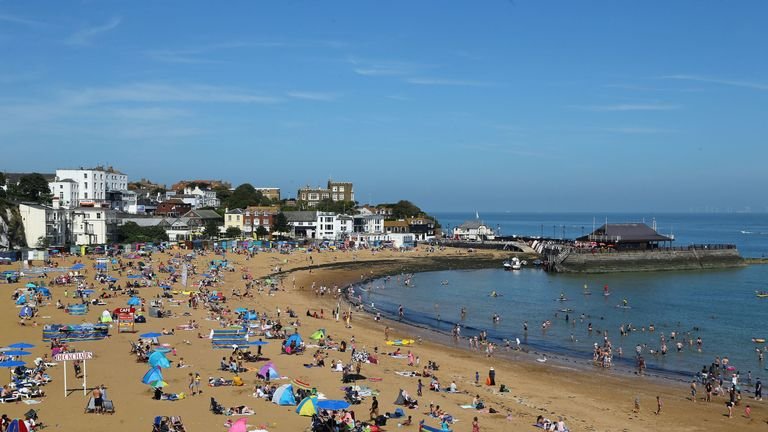 Sunny weather in Broadstairs, Kent