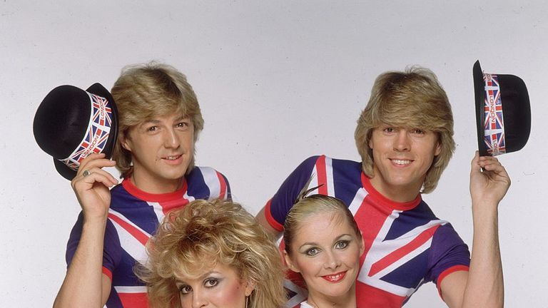 Jay Aston Colquhounis (bottom left) won Eurovision in 1981 as a member of Bucks Fizz