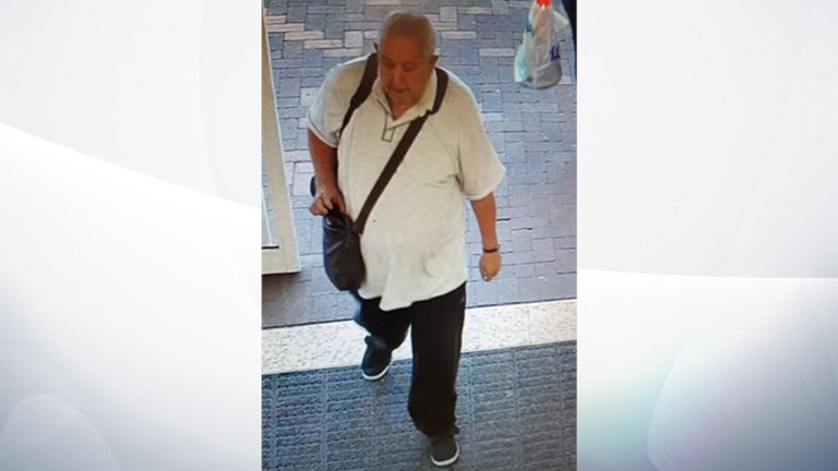 Peter Atkins was last spotted in Tesco in Royston. Pic: Cambridgeshire Police