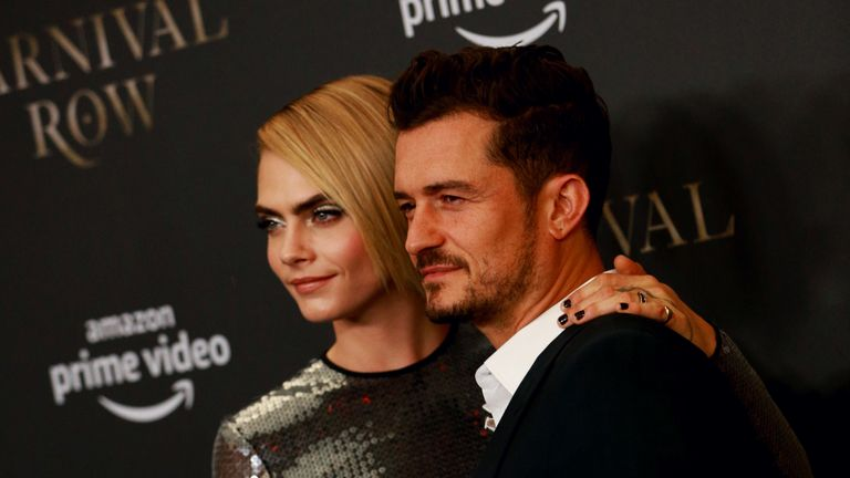 Cara Delevingne and Orlando Bloom star in Carnival Row