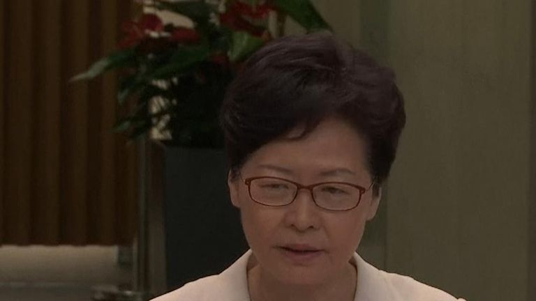 Carrie Lam says she has no plans to stand down as Hong Kong's chief executive