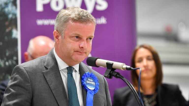 Former Tory MP Chris Davies admitted submitting false invoices for expenses