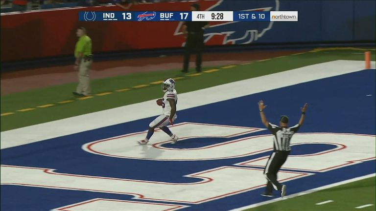 Former Wasps winger Christian Wade scored a sensational 65-yard touchdown with his first carry on his Buffalo Bills debut.