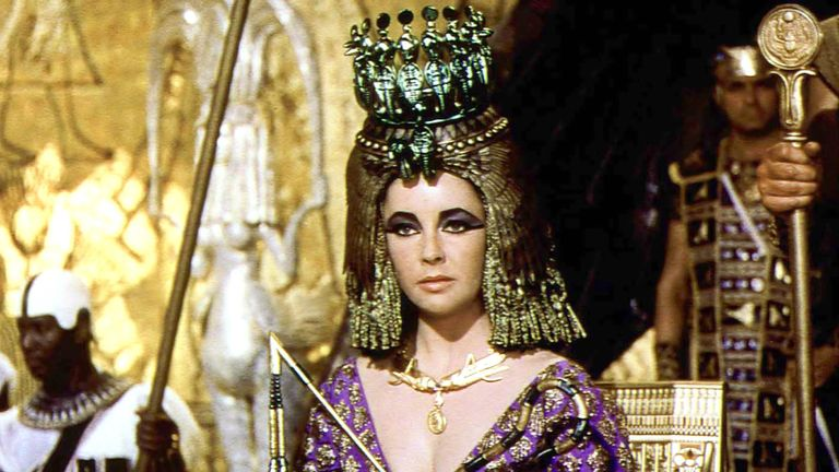 Elizabeth Taylor as Cleopatra in 1963