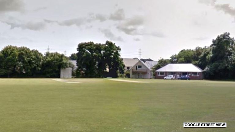 The Pembroke Cricket Club ground, where umpire John Williams was hit by a cricket ball.