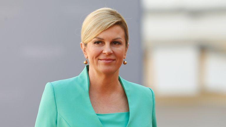 "Croatian President Kolinda Grabar-Kitarovic said she welcomed the ""swift response"""