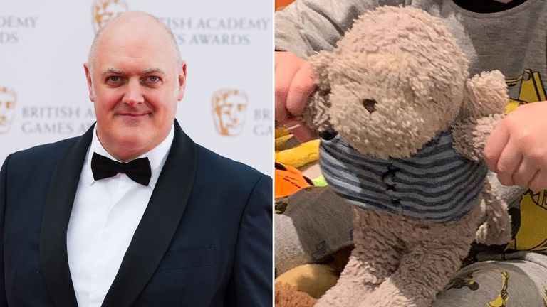 O Briain launched an appeal to find his three-year-old son's teddy bear
