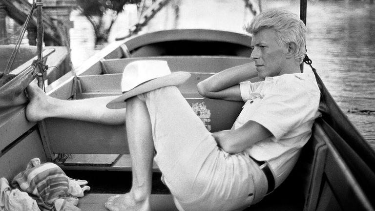 David Bowie in Bangkok, 1983. Pic: Denis O'Regan