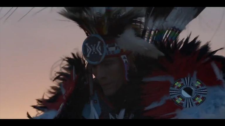 The dancer is a member of the Rosebud Sioux Tribe in South Dakota. Pic: Dior