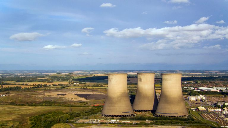 A view of the three remaining cooling towers at Didcot power station in Oxfordshire ahead of their demolition on Sunday. PRESS ASSOCIATION Photo. Picture date: Thursday August 15, 2019. See PA story ENERGY Didcot. Photo credit should read: Steve Parsons/PA Wire