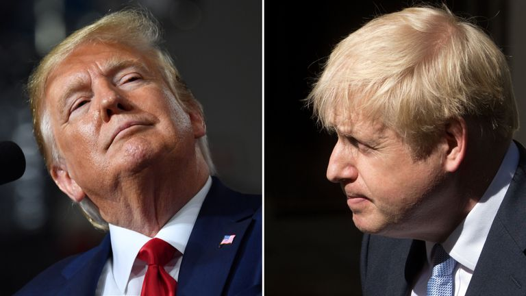 Donald Trump and Boris Johnson will meet face to face at the G7 summit