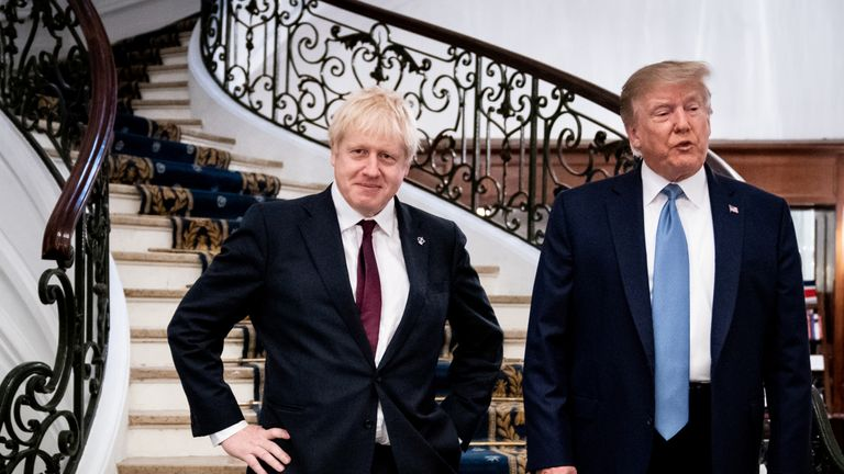 Boris Johnson and Donald Trump at the G7 Summit