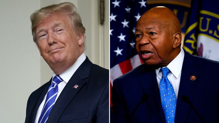 Donald Trump has been embroiled in another race row over comments he made about congressman Elijah Cummings