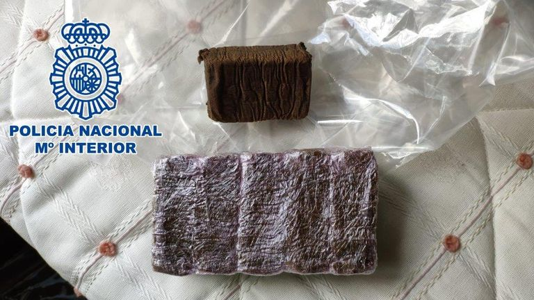 Some of the drugs were destined for the UK. Pic: Policia Nacional