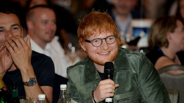 Ed Sheeran during the Nordoff Robbins O2 Silver Clef Awards 2019 at Grosvenor House on July 05, 2019 in London