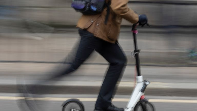 Electric scooter in London