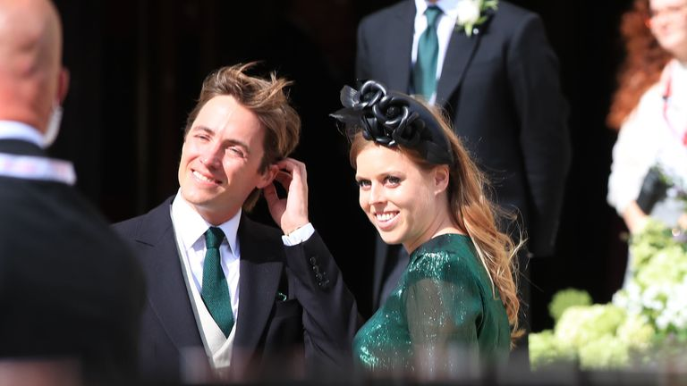 Princess Beatrice of York arriving at York Minster for the wedding