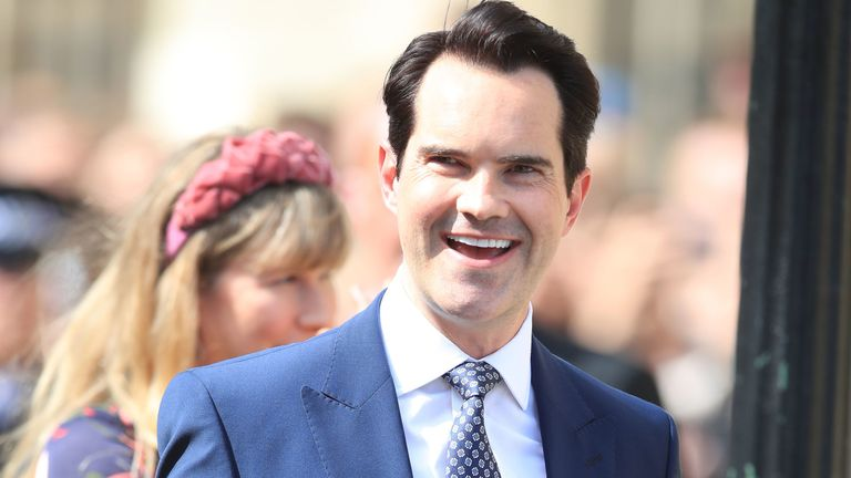 Comedian Jimmy Carr was also in attendance