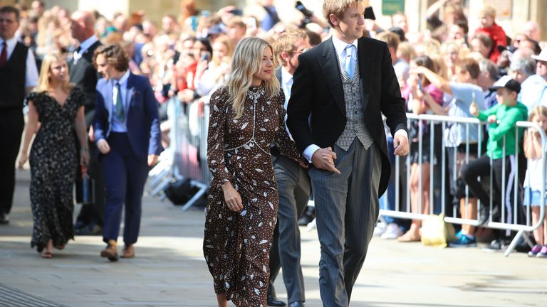 Actress Sienna Miller arriving for the wedding