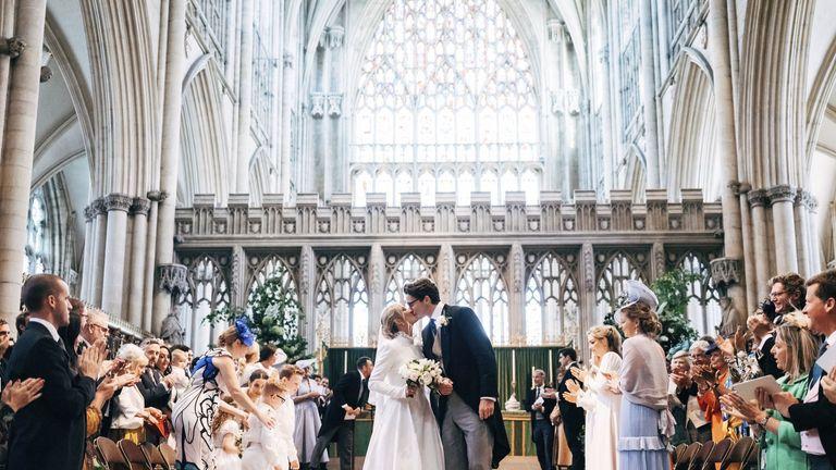 Singer Ellie Goulding marries her finance Caspar Jopling in York Minster