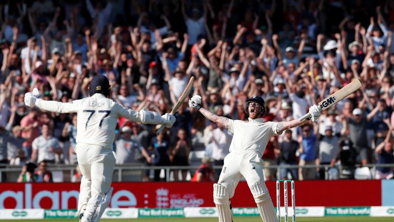 England celebrate victory at Headingley
