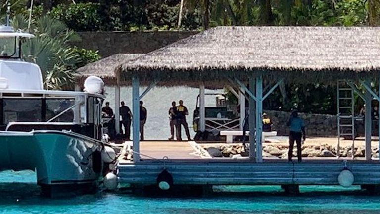 FBI agents on Jeffrey Epstein's private Caribbean island Pic: Salty Dog Day Sails